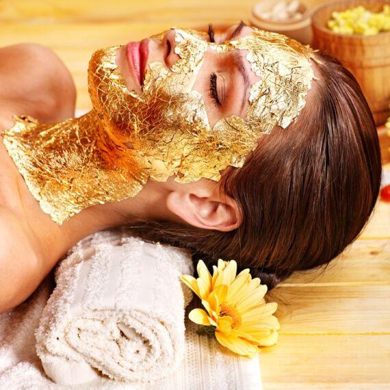 Kollagénes arcmaszk 24K arannyal és hyaluronsavval 1 főre 1 alkalom